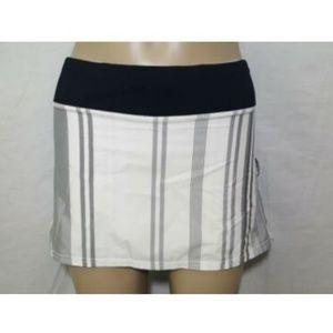 Lululemon Pace Setter Skirt 4 Reg Skort Striped